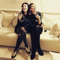 Laura Pausini e Paola Cortellesi #Happy 2015