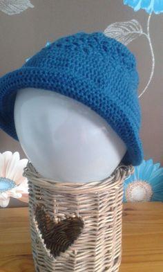 Roll brim hat by WaveSideCreations on Etsy