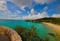 Playa Forti beach in Curacao