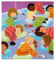 Ma première encyclopédie de la maternelle-Sleep over at School/Church Children's Book Illustration, Character Illustration, Kid Character, Character Design, Desenho Pop Art, Timberwolf, School Clipart, Kids Story Books, Classroom Activities