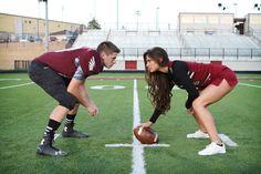 Cheerleader vs. football player