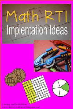 Math rti: helpful teaching ideas intervention, rti, and tuto Math Teacher, Math Classroom, Teaching Math, Teaching Ideas, Maths, Kindergarten Math, Future Classroom, Classroom Ideas, Math Strategies