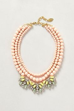 A colorful statement necklace is the perfect way to wear pastels for Spring