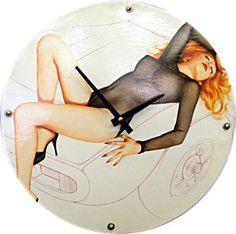 Autentica - la copertina dellalbum automobili Candy-O è usata per fare i 12 pollici tondo orologio da parete. Lorologio di base / posteriore fatta
