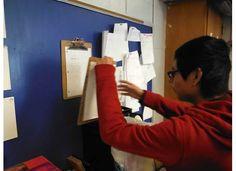 Usando el tablero para notas