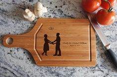Personalized Cutting Board just married wedding gift wedding wooden Wedding Anniversary Gifts, Wedding Gifts, Hungry Funny, Honeymoon Island, Personalized Cutting Board, Island Weddings, Food Gifts, Just Married, Bamboo Cutting Board