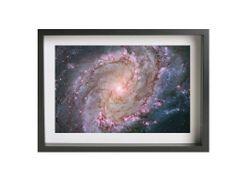 "Hubble Space Photography ""M83 Galaxy"" (9"" x 14"") Giclee Print on Metallic Paper Framed Art #stars #galaxy #photograph #art #print #nasa #hubble #telescope #m83 #universe #wallart"