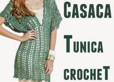 Casaca-Tunica manga japonesa crochet - Patrones Crochet