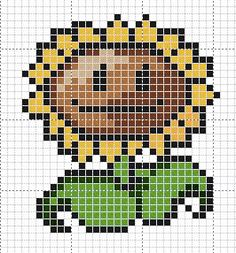 PvZ Sunflower & Peashooter cross stitch designs
