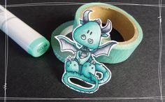 [Mise en couleur] Feutres à alcool #7 - Petit dragon Tiddly Inks