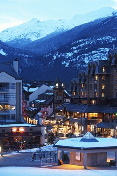 Whistler, British Columbia... I went here for New Years & it was so beautiful. The Christmas lights & village atmosphere was one I will never forget ❤️