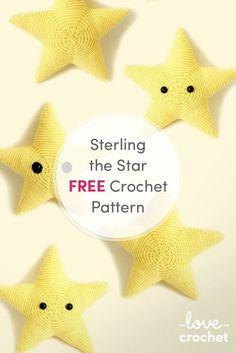 original pattern here:FREE Sterling the Star Crochet Pattern!