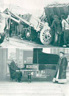 A Bechstein Concert Grand in the Imperial Palace in Peking for a concert to be given by the pianist Albert Friedenthal | from THE BECHSTEIN PICTURE BOOK (1928)
