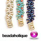 How To Bead Weave a Bracelet using CzechMates 2-Hole Crescent Beads #Seed #Bead #Tutorials