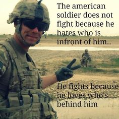 The American soldier: HOOOAAAHHHH