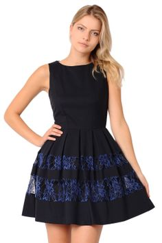 This navy pleat dress is the perfect piece to take you from day to night-wear, with its classic shillouette and cute lace detailling. -Pleated detail, -Cinched waist -Lace detail, -Long zip closure at the back -Full inner skirt lining Night Wear, Killer Heels, Skater Dress, Lace Detail, Dresser, Closure, Zip, Navy, Classic
