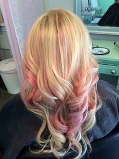 Pastel pink peekaboo highlights hair pinterest pink pink highlights in blonde hair yes this is the blonde i want and the same color pmusecretfo Choice Image