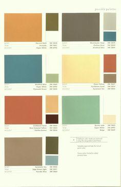 Color palette 1950's