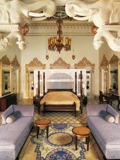 Taj Lake Palace, Udaipur, India This suite is aptly named Chandra Prakash, which means Luster of the Moon.