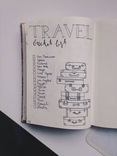 Ultimate List of Bullet Journal Ideas: 101 Inspiring Concepts to Try Today (Part - Simple Life of a Lady Bullet Journal Wish List, Bullet Journal Travel, Bullet Journal Inspo, Bullet Journal Layout, My Journal, Journal Pages, Journal Bucket List, Journal Organization, Bullet Journel