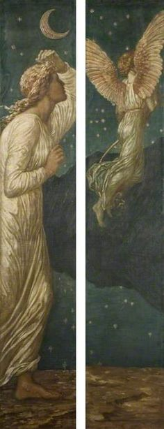 Cupid Flying away from Psyche (Palace Green Murals)  by Edward Burne-Jones        Date painted: 1872–1881