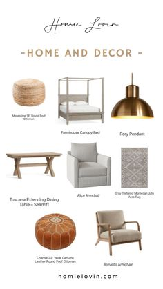 Explore the best Home Essentials For Every Room & Decor Style. All these items are quality made, affordable and budget friendly. Head to our website for more home deals and choices!#homeaccessories #homedecordeals #homielovindecor #homeideas Living Room Accessories, Home Accessories, Farmhouse Canopy Beds, Diy Furniture Flip, Grey Armchair, Farmhouse Kitchen Decor, Handmade Home Decor, Decor Interior Design, Diy Room Decor