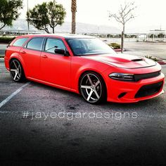 Repost from @jayedgardesigns Dodge Magnum with '15 Charger Hellcat front end…