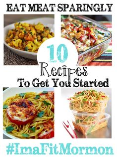 Eat Meat Sparingly the Word of Wisdom says it! Here are 10 Meals to Get You Started Quick Dinner Recipes, Clean Recipes, Whole Food Recipes, Healthy Recipes, Plant Based Diet, Plant Based Recipes, Wow Recipe, Clean Eating, Healthy Eating