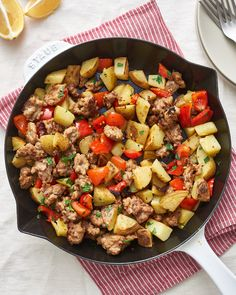 Recipe: Fried Potatoes and Sausage Skillet | Kitchn