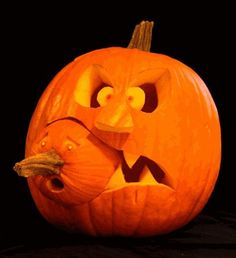Amazing imaginative cool carved pumpkin design for Halloween party. Cool Easy Pumpkin Carvings for Perfect Halloween Day