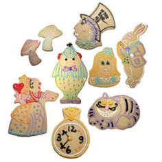 Assorted Cookie Cutters from Alice in Wonderland Theme