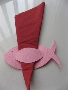 10x Servietten Fisch rosa von Bastelservice auf DaWanda.com