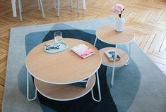 Table basse Eugénie / Ø 70 x H 40 cm Gris ardoise - Hartô