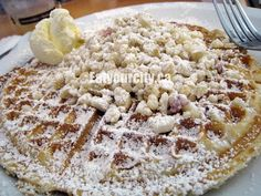 Macadamia nut waffle. Nom! Full food tour of Oahu here: http://www.eatyourcity.ca/2012/07/full-day-food-tour-of-oahu-hawaii-first.html