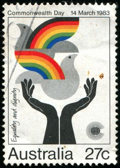 AUSTRALIA - CIRCA 1983: stamp printed by Australia, shows Peace, harmony, circa 1983