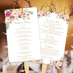 70 Wedding Program Fans Diy Printable Templates Ideas Wedding Program Fans Program Fans Ceremony Programs