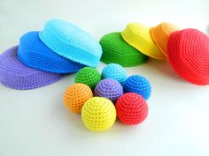 Montessori rainbow stacker. Eco friendly educational toys. Montessori materials for memory game. Gender neutral baby Christmas gift Educational Games For Toddlers, Educational Toys, Crochet Ball, Crochet Toys, Organic Baby Toys, Baby Christmas Gifts, Montessori Materials, Memory Games, Gender Neutral Baby