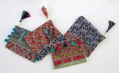 Lotts and Lots   Making the everyday beautiful: Floral Friday - DIY embellished Liberty bags