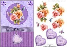 Rosy Glow Lilac Card Front