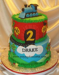 Drake's ChooChoo Train Cake! (Click any photo to enlarge)