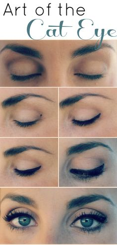 art of the cat eye-- Super simple tip, crazy that no one else suggests the dot technique