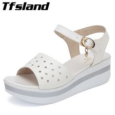 Cheap walking shoes, Buy Quality sneakers sneakers directly from China sneakers walking Suppliers: Summer Women Roman Thick Bottom Wedge Sandals Students Hollow Out Leather Walking Shoes Peeptoe Flat Sole Soft Slippers Sneakers