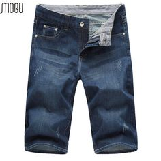 MOGU Short Jeans For Men 2017 Summer New Arrival Fashion Ripped Denim Shorts For Men Loose Casual Shorts Asian Size Men's Shorts #Affiliate