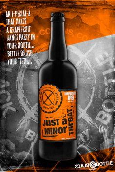 Black Bottle Brewery - Just A Minor Threat IPA. Product photo by JMVDIGITAL. #beer #studio #advertising
