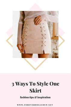 3 Ways To Style One Skirt fashion tips and inspiration lace skirts pink skirt fashion stylish outfits and dresses SHOP online fashion boutique and lifestyle blog www.foreverdolledup.net