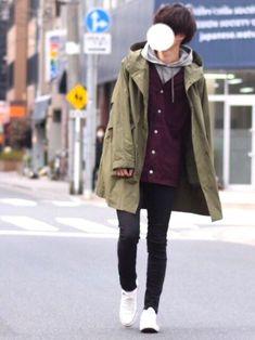 格安アイテムでアウターonアウター🦐 ■着用サイズ■ coat →XL jacket → XL