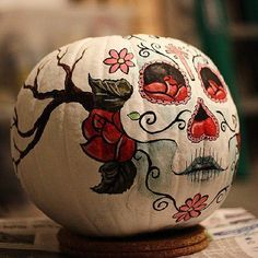 12 Easy Pumpkin Decorating Ideas, #9 Takes Lazy To A Whole New Level. - http://www.lifebuzz.com/pumpkin-diy/