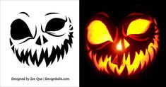 Scary-Pumpkin-Carving-Stencils-Printable-Patterns-2017