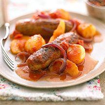 Sausage Red Onion Apple Casserole