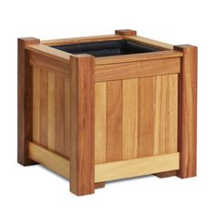 Our Vesailles Iroko wooden planter, handmade at Taylor Made Planters.